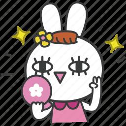 bella, bunny, cartoon, character, cute, lovely, rabbit icon