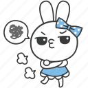bella, bunny, cartoon, character, grumble, rabbit, sulk icon