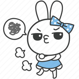 bella, bunny, cartoon, character, grumble, rabbit, sulk icon