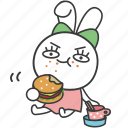 bella, bunny, cartoon, character, eating, full, rabbit icon