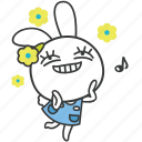 bella, bunny, cartoon, character, daydream, excited, rabbit icon