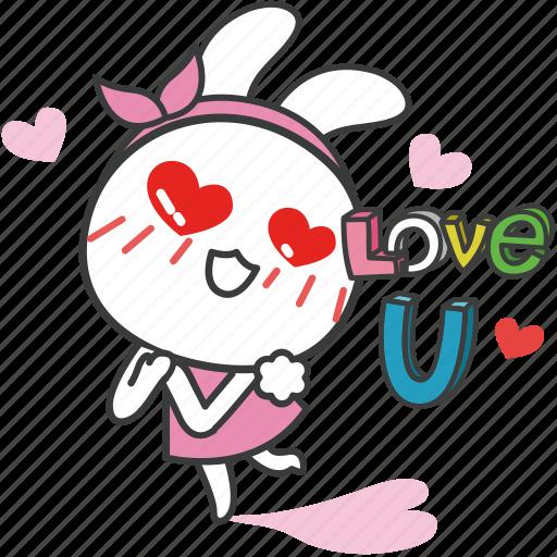 bella, bunny, cartoon, character, love, rabbit icon