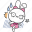 bella, bunny, cartoon, character, frightened, rabbit, shocked icon