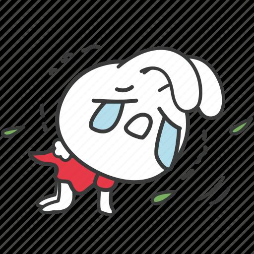 bella, bunny, cartoon, character, lonely, rabbit, sad icon