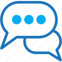 bubble, chat, discusion, message, messenger icon
