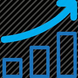 chart, graph, increasing icon