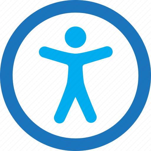 accessibility, human, person icon