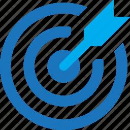 bow, center, focus, target icon