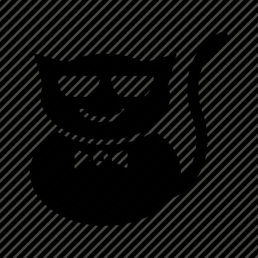 .svg, cats, emoticons, eyeglasses, funny, unique icon
