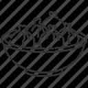khinkali, khinkali icon, dumplings, georgian dish icon