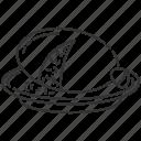 haggis icon, pudding, haggis, scottish dish icon