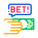 bet, betting, gambling, hand, make
