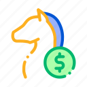 betting, gambling, horse, racing icon