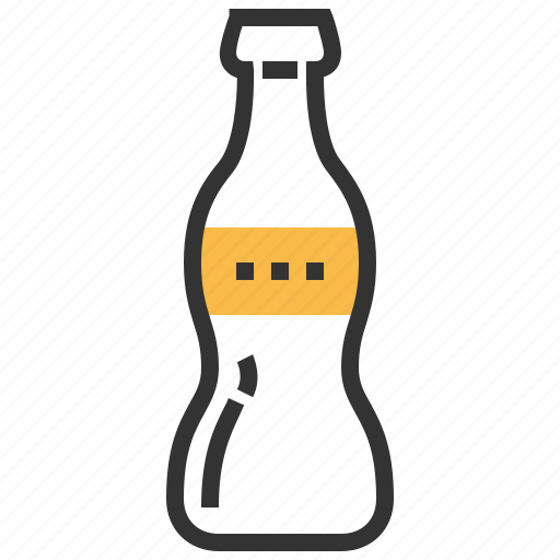 beverage, bottle, cola, drink, glass, soda icon