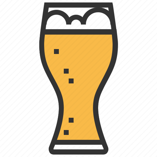 alcohol, beer, beverage, drink, glass, wheat icon