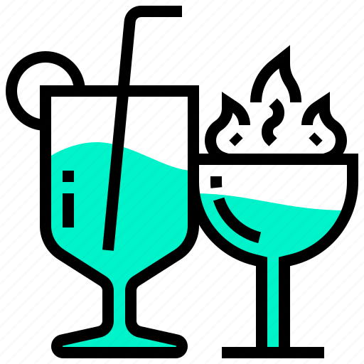 beverage, cocktail, drink, juice, water icon