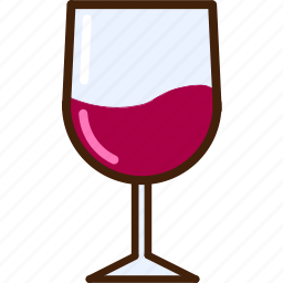 colour, coloured, food, glass, outline, red, wine icon