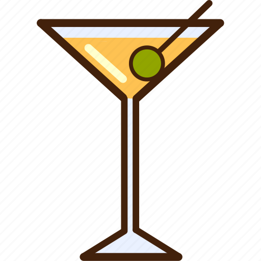 champange, colour, coloured, drink, food, martini, outline icon