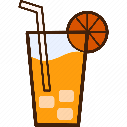colour, coloured, drink, food, juice, orange, outline icon