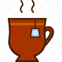 colour, coloured, cup, food, hot, outline, tea icon