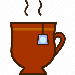 colour, coloured, cup, food, hot, outline, tea icon