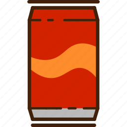 can, cola, colour, coloured, food, outline, soda icon