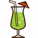 summer, outline, colour, drink, coloured, soda, food icon
