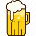 beer, colour, coloured, food, mug, outline, yellow icon
