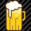 outline, colour, beer, yellow, coloured, mug, food icon