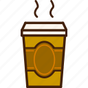 coffee, outline, cup, tea, colour, coloured, food icon