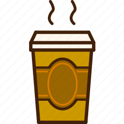 coffee, colour, coloured, cup, food, outline, tea icon