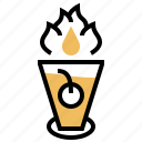 alcohol, beverage, cocktail, drink, fire icon