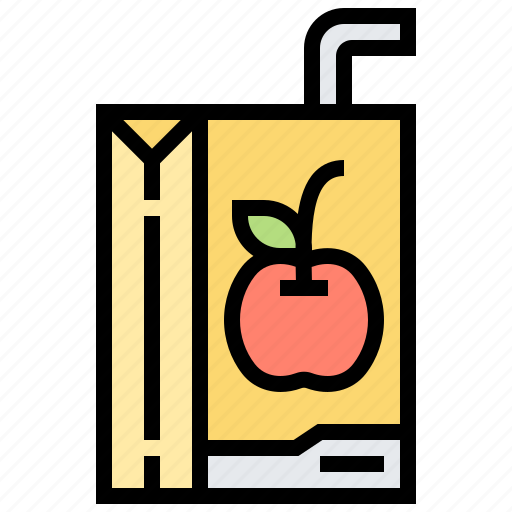 apple, beverage, box, drink, juice icon