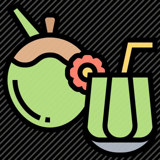 beverage, coconut, drink, glass, juice icon
