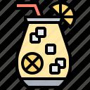 beverage, jug, juice, lemon, tea icon