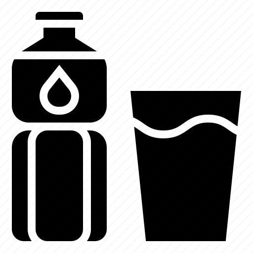 beverage, bottle, drink, mineral, water icon