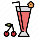 beverage, cherry, drink, juice icon