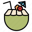 beverage, coconut, drink, juice icon