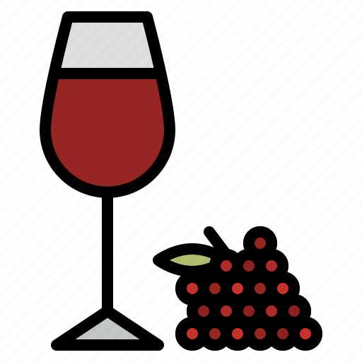 beverage, drink, grape, wine icon