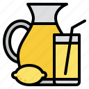 beverage, drink, juice, lemon icon