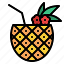 beverage, drink, juice, pineapple icon