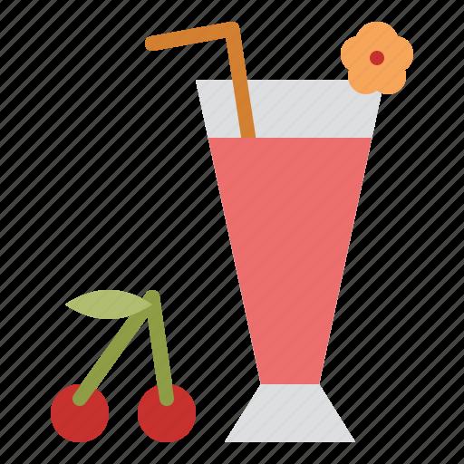 beverage, cherry, drink, juice icon