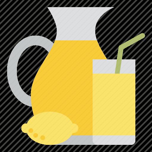 beverage, drink, juice, lemon icon