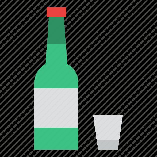 beverage, drink, korea, soju icon