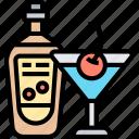 alcoholic, drink, cocktail, bottle, beverage