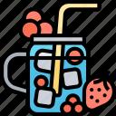 berry, tea, iced, drink, juice