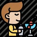 cocktail, bartender, drink, service, nightclub