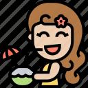 coconut, juice, fresh, tropical, summer