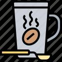 coffee, mug, hot, caffeine, breakfast