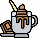 hot, chocolate, cream, milkshake, cup